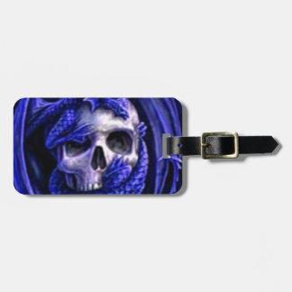blue-dragon-skull luggage tag