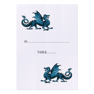 Blue Dragon Wedding Place Card Pack Of Chubby Business Cards