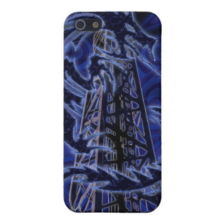 Blue dragon wrapping around derrick iPhone 5 cover
