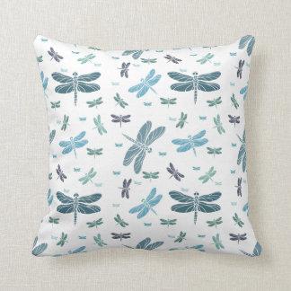 Blue Dragonflies Cushion