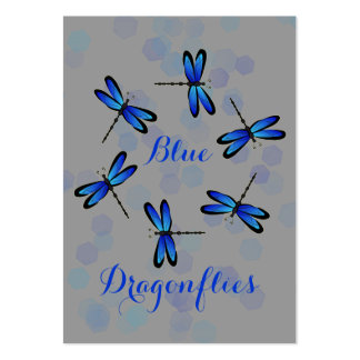 blue dragonflies II Large Business Cards (Pack Of 100)