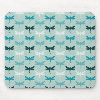 Blue Dragonflies Mouse Mat