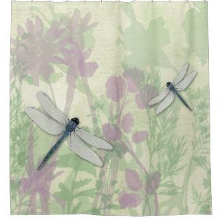 Blue Dragonflies Shower Curtain