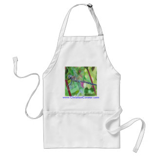 Blue dragonfly apron