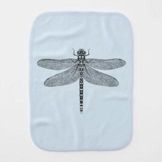Blue Dragonfly Burp Cloth