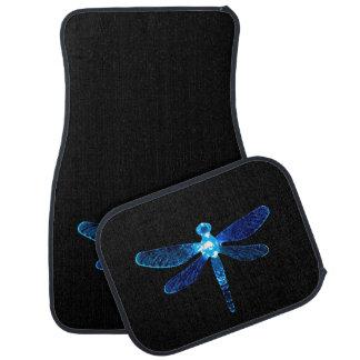 Blue Dragonfly Car Mats
