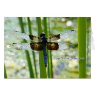 Blue Dragonfly Card