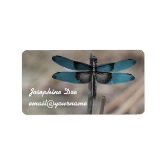 Blue Dragonfly Custom Labels