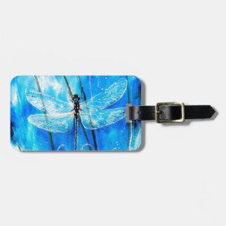 Blue Dragonfly Luggage Tag