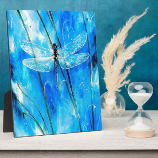 Blue Dragonfly Plaque