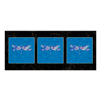 Blue Dragonfly Posters