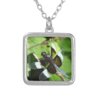 Blue Dragonfly Widow Skimmer Necklace