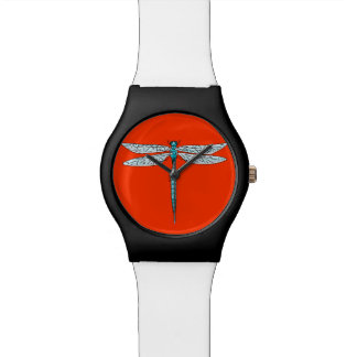 blue dragonfly wrist watch