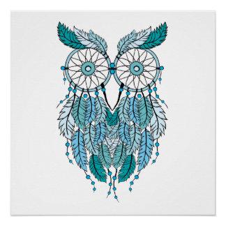 blue dreamcatcher owl