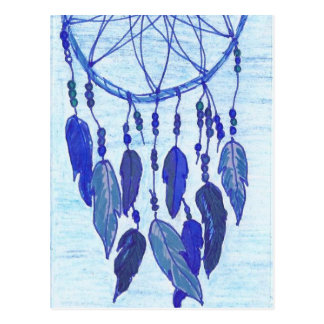 Blue Dreamcatcher Postcard