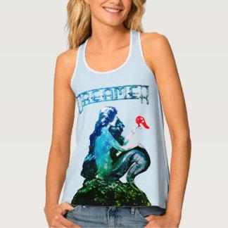 Blue Dreamer Vintage Mermaid ReDesign by Aleta Tank Top