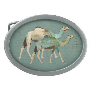 Blue Dreamy Camels Belt Buckle