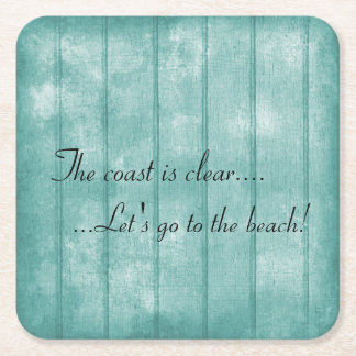 Blue Driftwood Beach Coaster