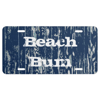 Blue Driftwood License Plate