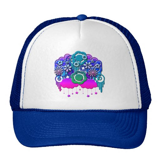 Blue Drips Hat
