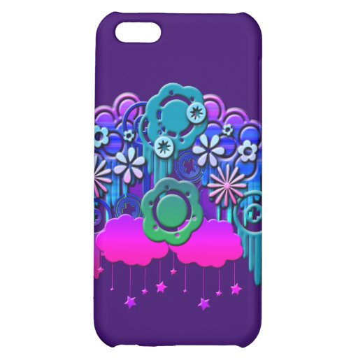 Blue Drips Cover For iPhone 5C