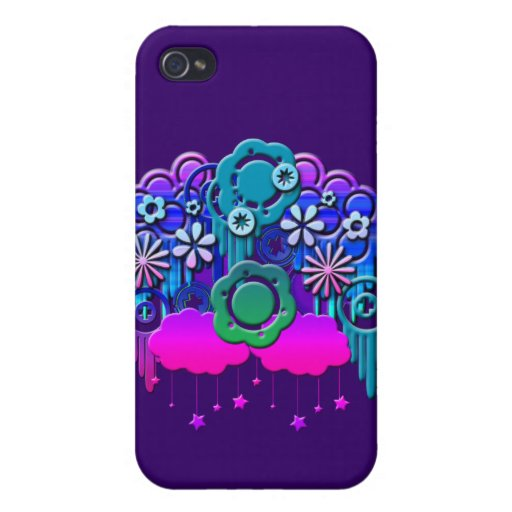 Blue Drips Cases For iPhone 4