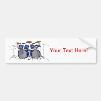 Blue Drum Kit 10 Piece Bumper Stickers