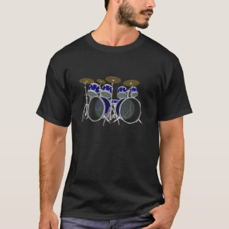 Blue Drum Kit: 3D Model: Custom T-Shirt