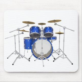 Blue Drum Kit: Mouse Mat