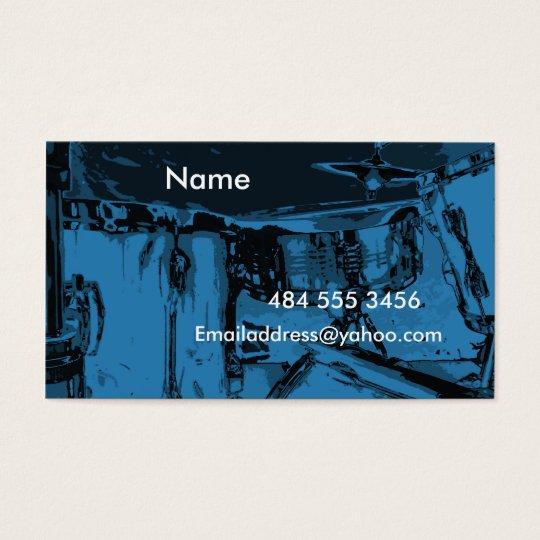 Blue Drums Business Card