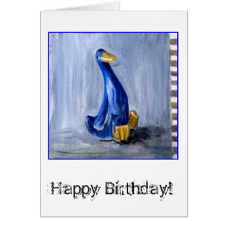 Blue Duck Birthday Card