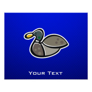 Blue Duck Print
