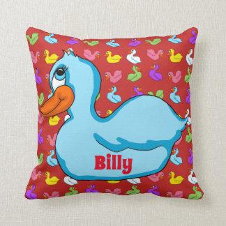 Blue Duck Square Pillow