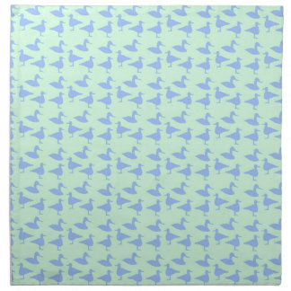 Blue ducks napkin