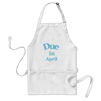 Blue Due in April Adult Apron