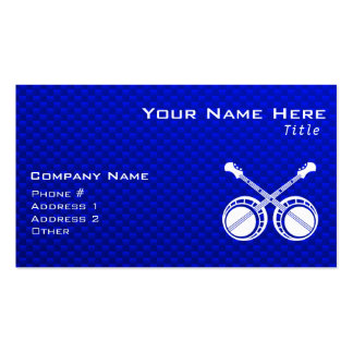 Blue Dueling Banjos Business Card Template