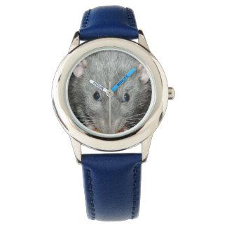 Blue dumbo rat wrist watch