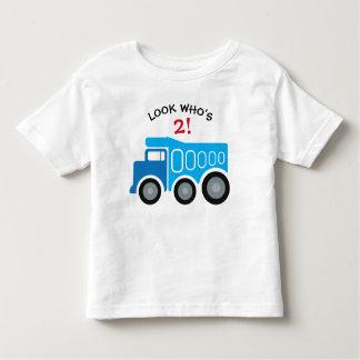 Blue Dump Truck Birthday T-shirt