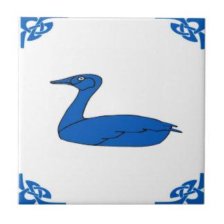 Blue Dutch Duck Tile