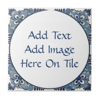 Blue Dutch look, edit text,add image, Tile