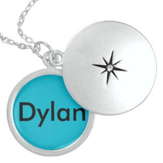 Blue Dylan Medium Silver Plated Round Locket