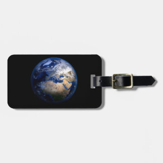 Blue Earth From Space  Inspirational Globe World Luggage Tag
