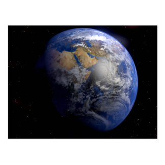 Blue Earth From Space Inspirational Postcard