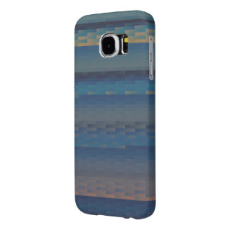 Blue Earth Gradient Tile Samsung Galaxy S6 Cases