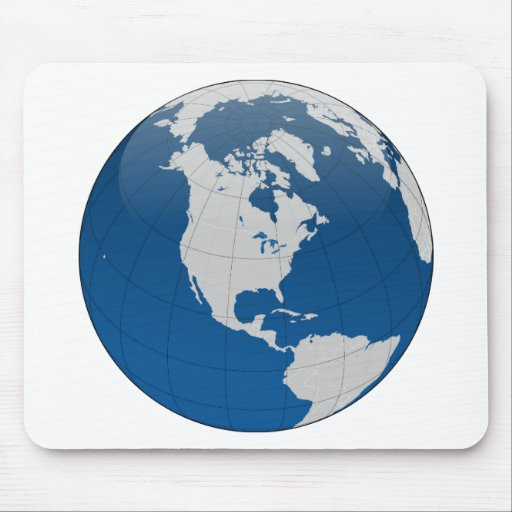 Blue Earth High Quality Print Mousepad