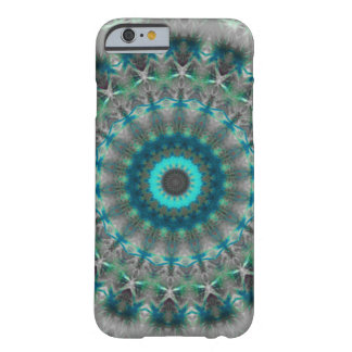 Blue Earth Mandala Kaleidoscope pattern Barely There iPhone 6 Case