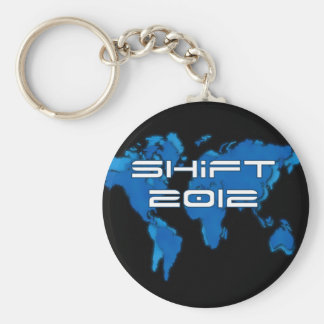 Blue Earth Shift 2012 Basic Round Button Key Ring