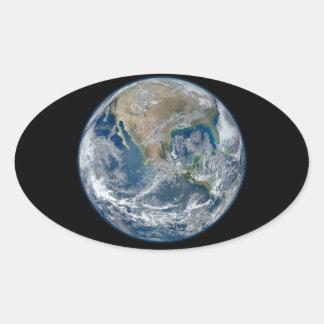 Blue Earth Oval Sticker