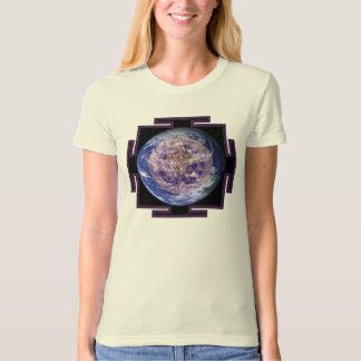 Blue Earth Yantra organic fitted T-shirt