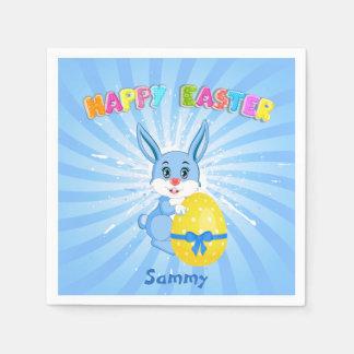 Blue Easter Bunny Cartoon Disposable Napkin